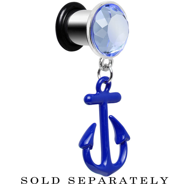 0 Gauge Blue Dangling Anchor Steel Plug
