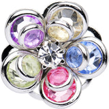 2 Gauge Multi Blooming Glam Gardenia Steel Plug