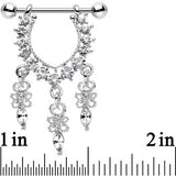 Clear Gem Radiant Goddess Dangle Nipple Ring Set