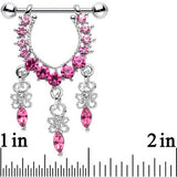 Pink Gem Radiant Goddess Dangle Nipple Ring