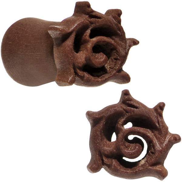 2 Gauge Organic Wood Rebirth Hand Carved Plug Set