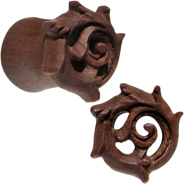 0 Gauge Organic Wood Rebirth Hand Carved Plug Set