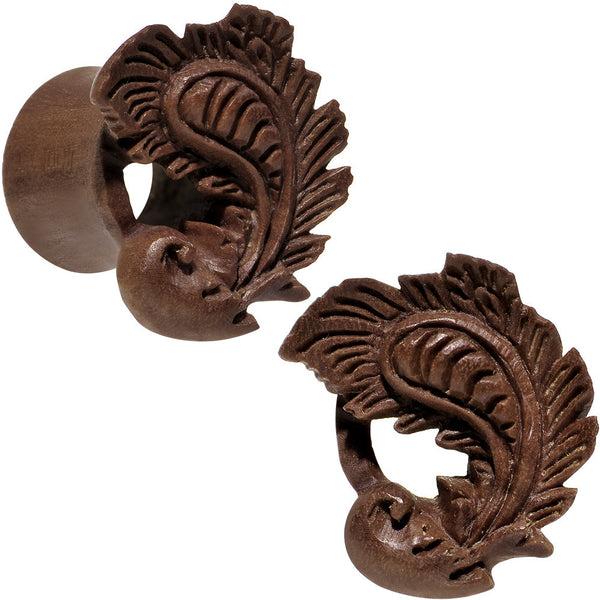 "5/8"" Organic Wood Heaven's Nectar Hand Carved Plug Set"