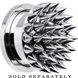"5/8"" Super Spiked Stainless Steel Screw Fit Tunnel"