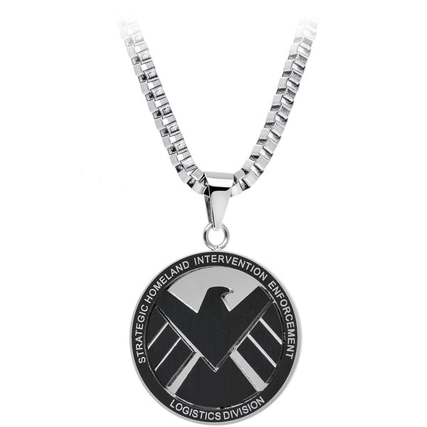 Licensed Steel Marvel Agents of SHIELD Pendant Necklace