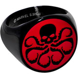 Officially Licensed Stainless Steel IP Black Red Hydra Logo Ring