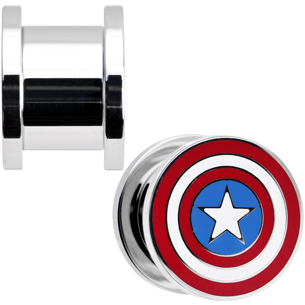 1/2 Stainless Steel Licensed Captain America Screw Fit Plug Set