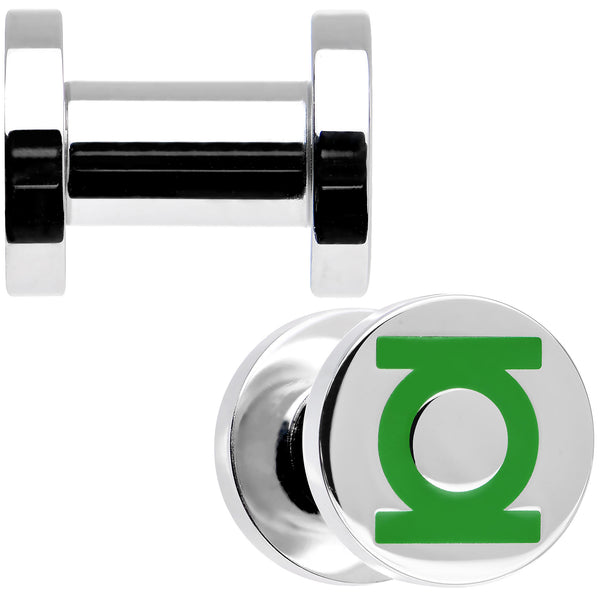4 Gauge Stainless Steel Licensed Green Lantern Screw Fit Plug Set