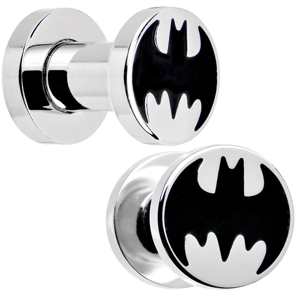 4 Gauge Stainless Steel Licensed Batman Logo Screw Fit Plug Set