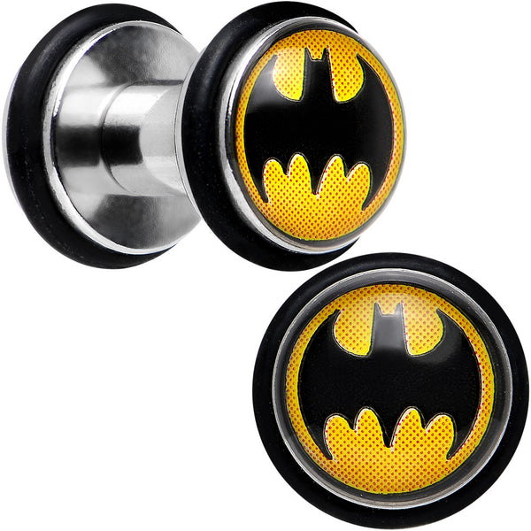 6 Gauge Stainless Steel Barbell Illusion Batman Mini Ear Plug Set