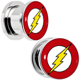 1/2 Stainless Steel Licensed The Flash Logo Screw Fit Plug Set