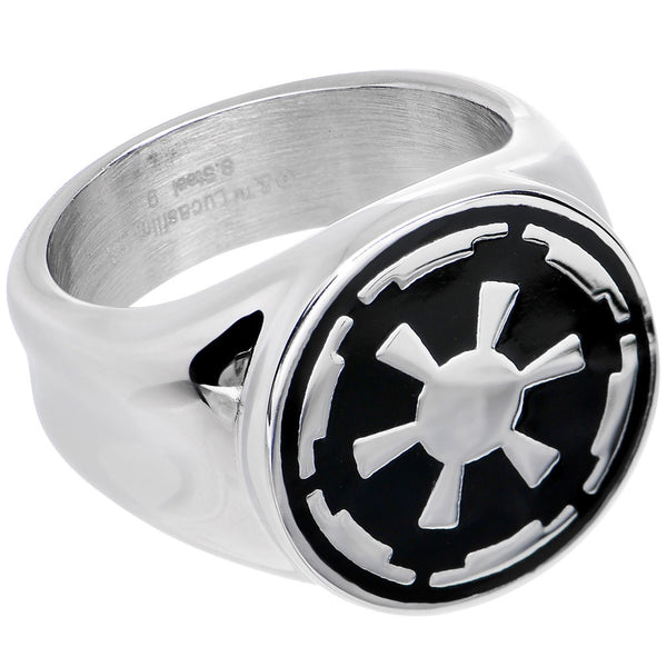 Licensed Steel Star Wars Galactic Empire Symbol Ring