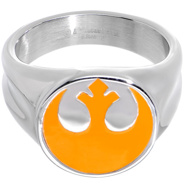 Licensed Steel Star Wars Rebel Alliance Symbol Ring