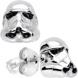 Officially Licensed 316L Stainless Steel Storm Trooper Earrings