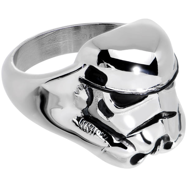 Licensed Steel Star Wars 3D Stormtrooper Ring