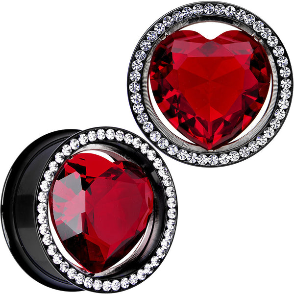 25mm Red Heart Steel Double Flare Internally Threaded Plug Set