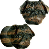 "5/8"" Organic Areng Wood Pug Hand Carved Plug Set"