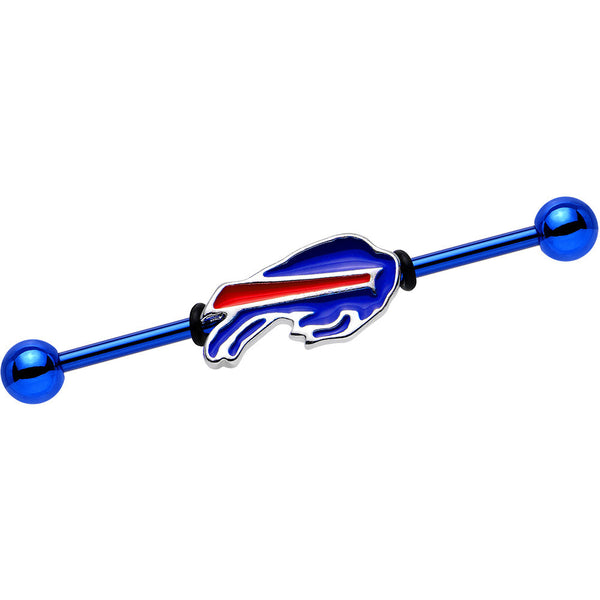 Officially Licensed Buffalo Bills Logo Industrial Barbell 38mm