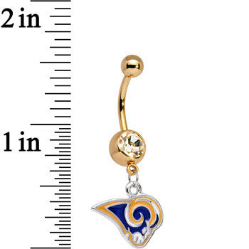 Officially Licensed NFL St. Louis Rams Dangle Belly Ring
