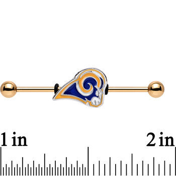 Officially Licensed St. Louis Rams Logo Industrial Barbell 38mm