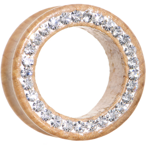 7/8 Organic Wood Clear Paved Gem Tunnel
