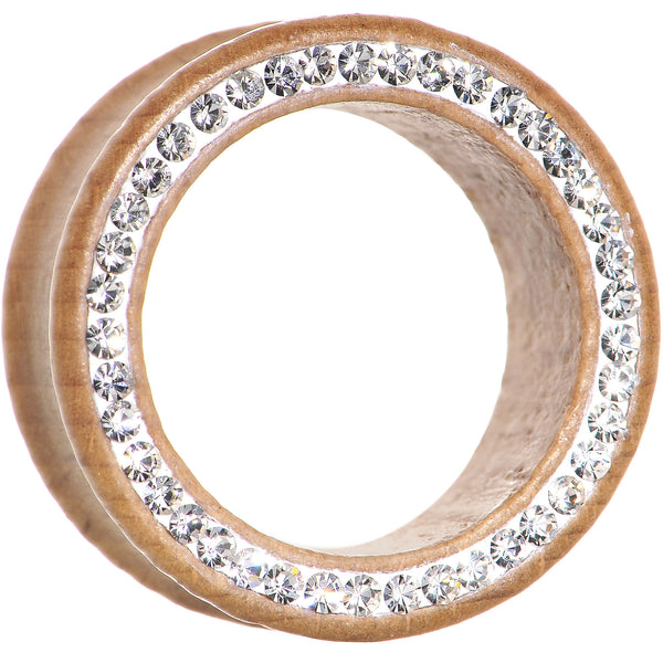 1 inch Organic Wood Clear Gem Paved Tunnel