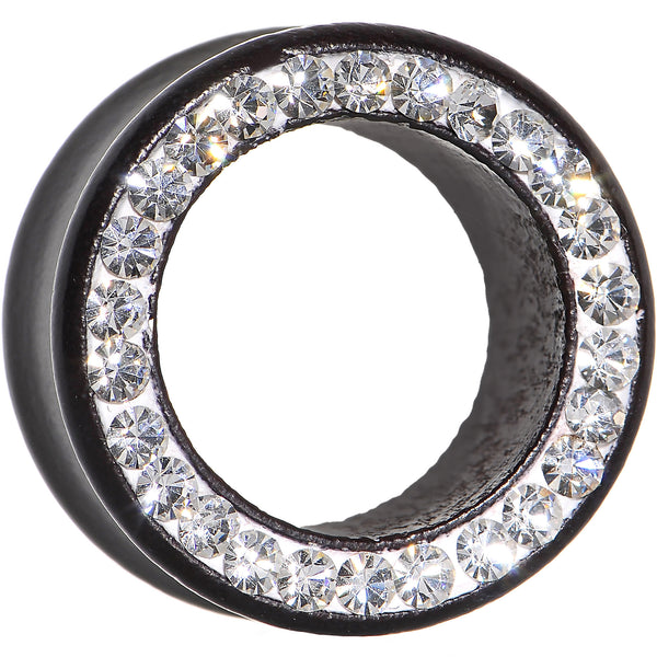 20mm Organic Black Wood Clear Gem Paved Tunnel