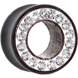 "9/16"" Organic Black Wood Clear Gem Paved Tunnel"