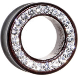 18mm Organic Black Wood Clear Gem Paved Tunnel