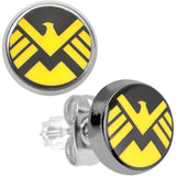 Officially Licensed 316L Stainless Steel S.H.I.E.L.D. Stud Earrings