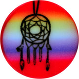 2 Gauge Rainbow Acrylic Groovy Dreamcatcher Single Flare Plug