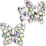 Aurora Gem Summer Butterfly Stud Earrings