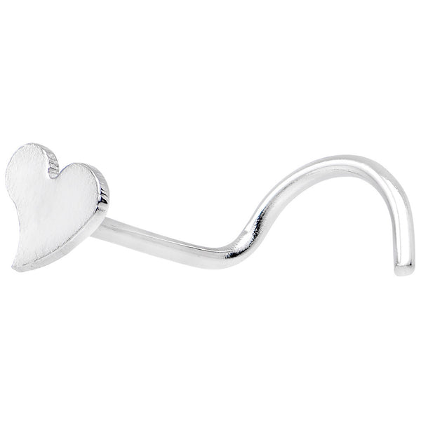 316L Stainless Steel Heart Nose Ring