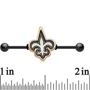 Officially Licensed New Orleans Saints Logo Industrial Barbell 38mm
