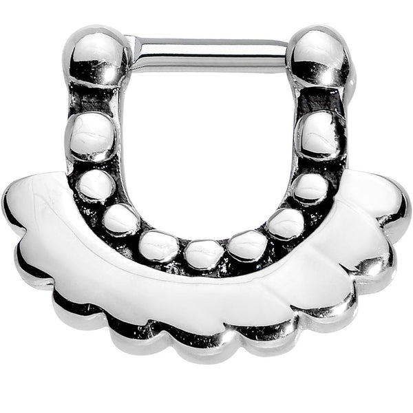 "14 Gauge 5/16"" Stainless Steel Aztec Angel Septum Clicker"