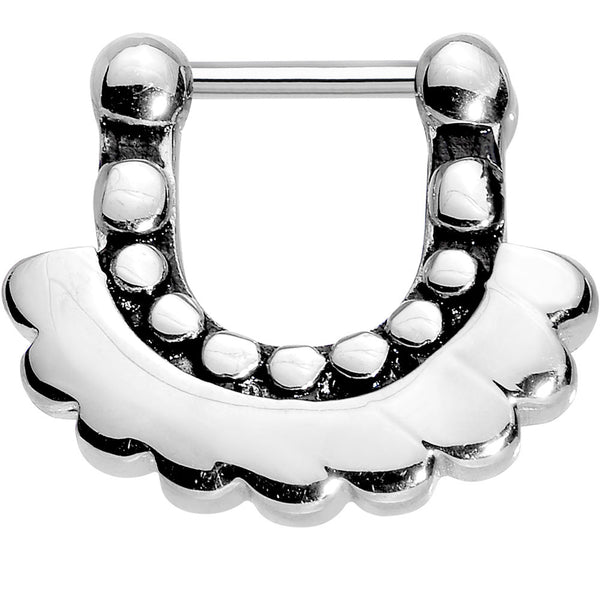"16 Gauge 5/16"" Stainless Steel Aztec Angel Septum Clicker"