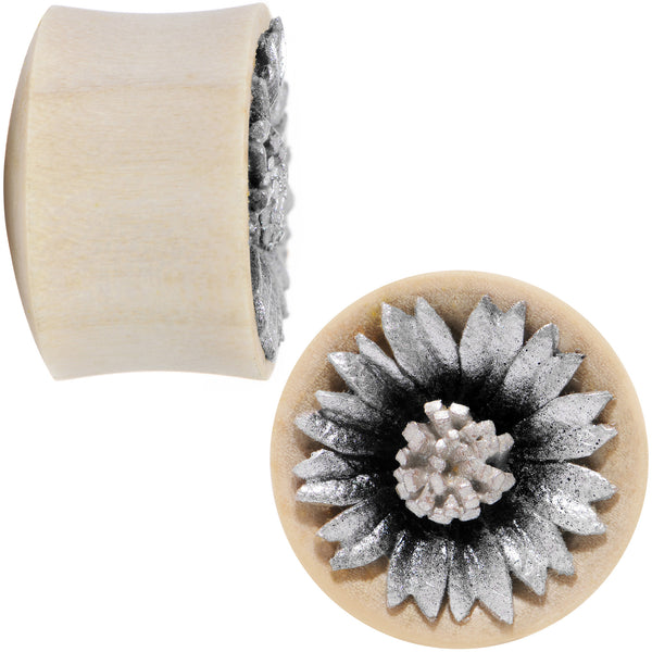 3/4 Crocodile Wood Metallic Leather Flower Saddle Plug Set