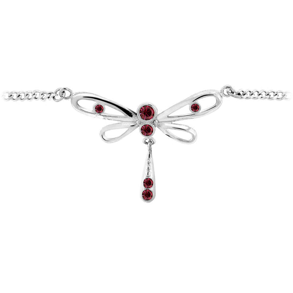 Vibrant Violet DRAGONFLY Jeweled BACK Belly Chain