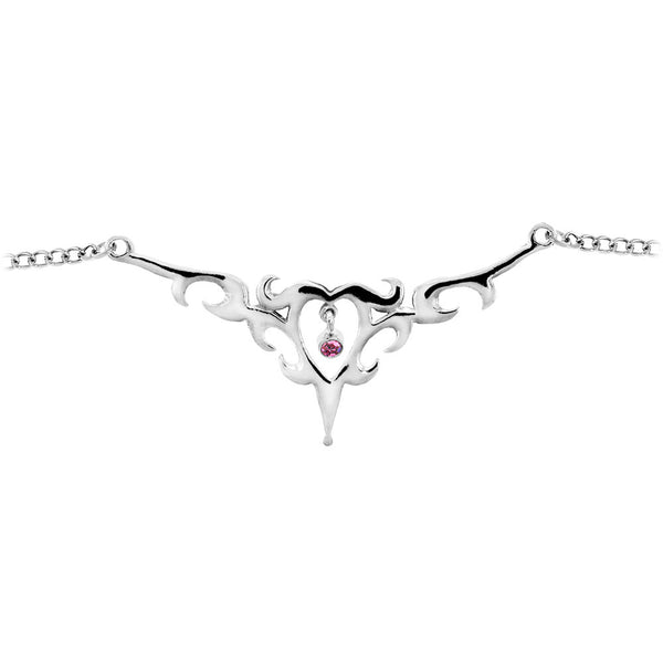 TRIBAL HEART No. 1 Passion Pink Gem BACK Belly Chain