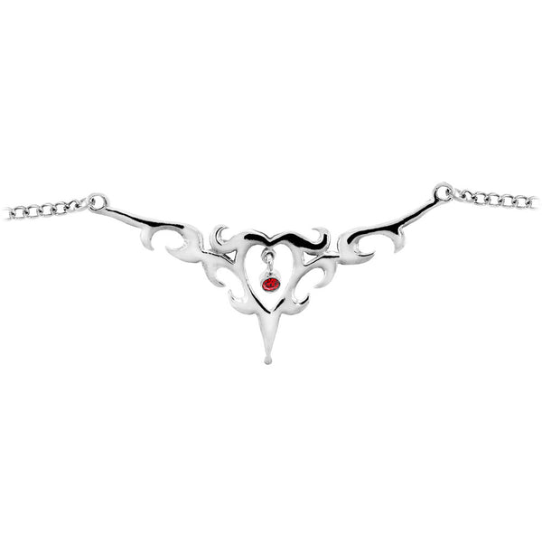 TRIBAL HEART No. 1 Ruby Red BACK Belly Chain