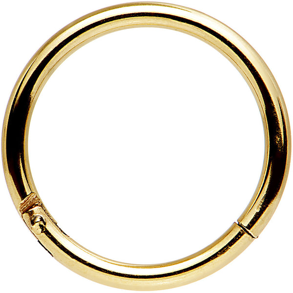 "16 Gauge 3/8"" Gold Tone Anodized Hinged Segment Ring"