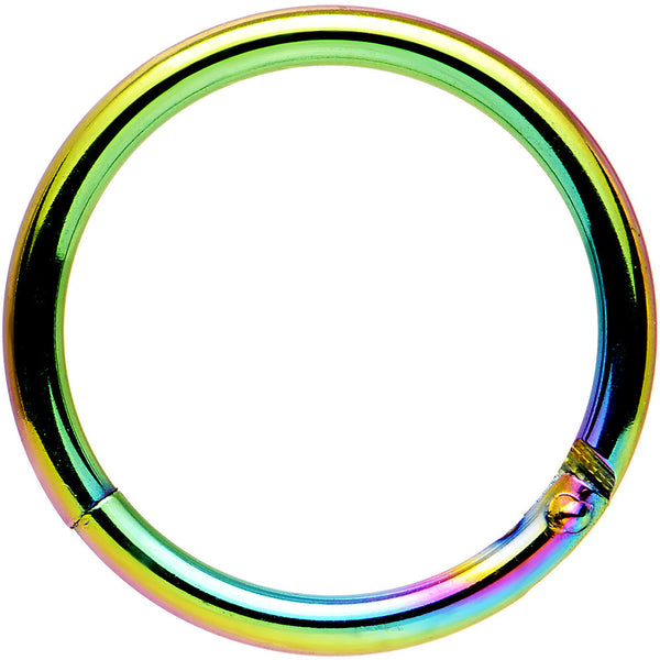 16 Gauge 3/8 Rainbow Anodized Hinged Segment Ring