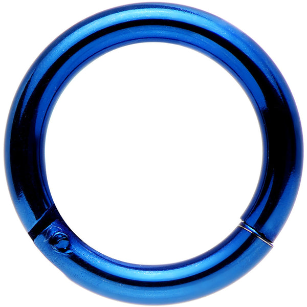 14 Gauge 5/16 Blue Anodized Hinged Segment Ring
