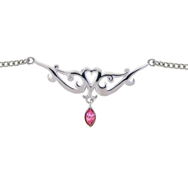TRIBAL HEART TEAR DROP Passion Pink BACK Belly Chain