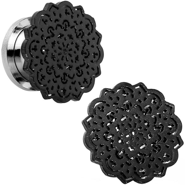 "1/2"" Stainless Steel Black IP Lotus Screw Fit Double Flare Plug Set"