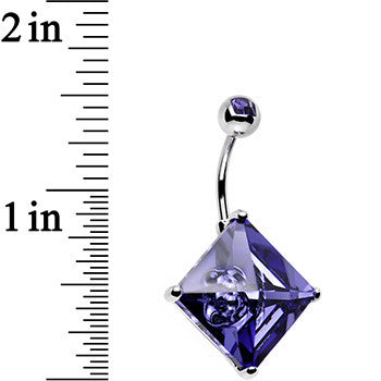 16mm Purple Crystal Big Belly Ring Created with Swarovski Crystals