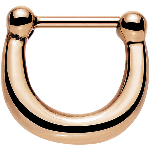 16 Gauge 5/16 Rose Gold IP Stainless Steel Bold Septum Clicker