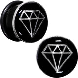 5/8 Black PVD Show Me Shapes Rhombus Single Flare Plug Set