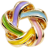 16 Gauge 1/4 Gold Anodized Festive Wreath Tragus Cartilage Earring