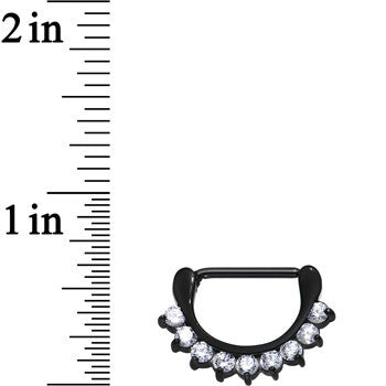 Black PVD 316L Chic Nipple Clicker Created with Swarovski Crystals